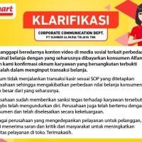 Klarifikasi PT Sumber Alfaria Trijaya TBK terkait Kesalahan Input Nominal Belanja oleh Karyawan