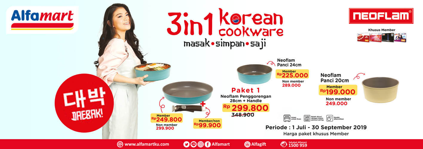 NEOFLAM 3 in 1 Korean Cookware