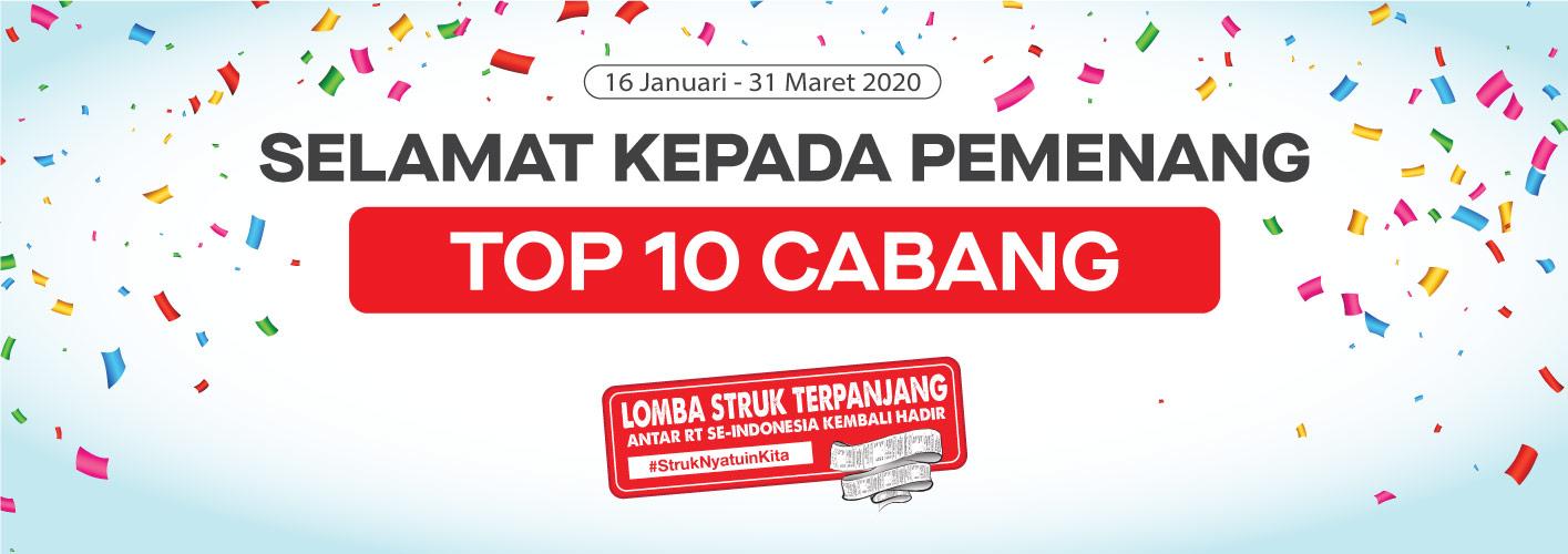 Pemenang CABANG Struk Terpanjang Periode 16 Januari - 31 Maret 2020