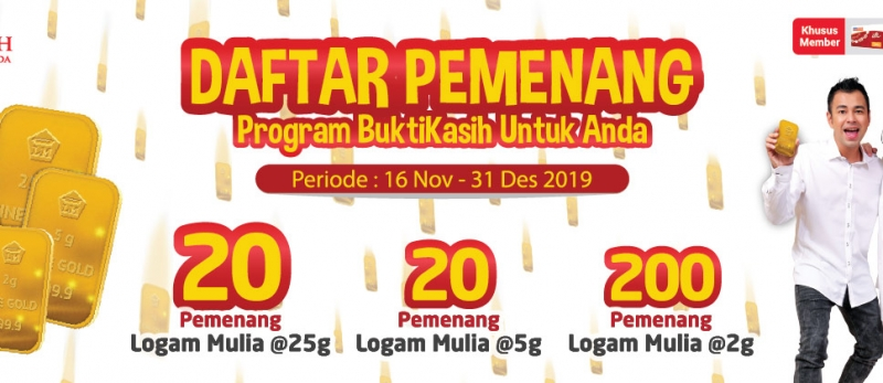 Pemenang Program BKUA periode 16 Nov - 31 Des 2019