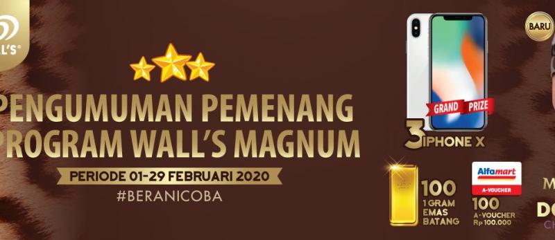 Pengumuman Pemenang Program Walls Magnum 1- 29 Februari 2020