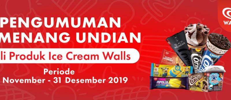 Pemenang Beli Produk Ice Cream Walls