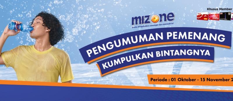 Pemenang Bintang Mizone 1 Oktover - 15 November 2018