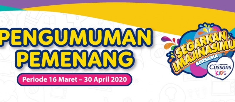 Pemenang CUSSON Kids periode 16 Maret - 30 April 2020