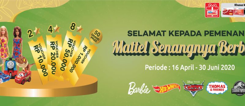 Pemenang Program Mattel Senangnya Berbagi 16 April - 30 Juni 2020