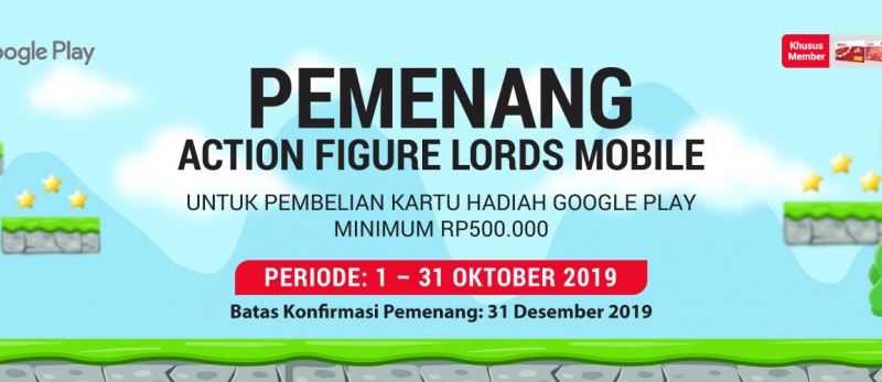 Pemenang Lord Mobile Action Figure