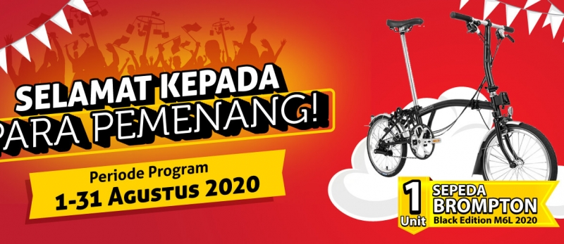 Pengumuman Pemenang Program PESTA periode 1 - 31 Agustus 2020