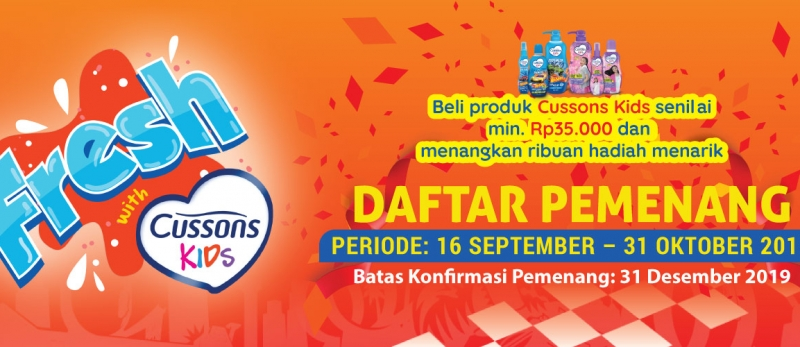 Pengumuman Pemenang Fresh with Cusson Kids