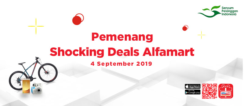Pemenang Shocking Deals Alfagift 4 September 2019