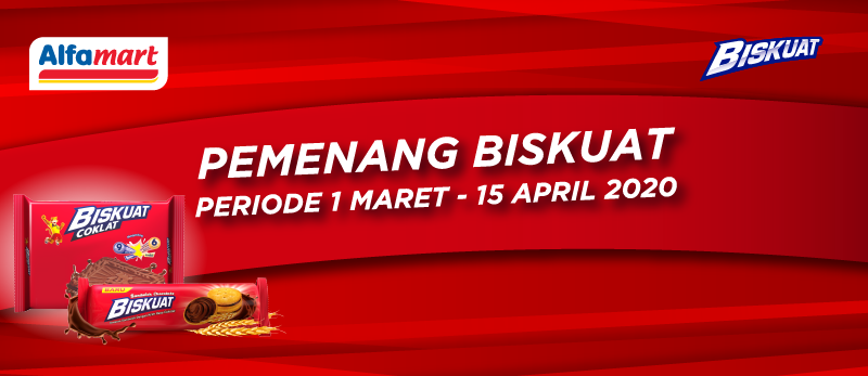 Pemenang Biskuat periode 1 Maret - 15 April 2020