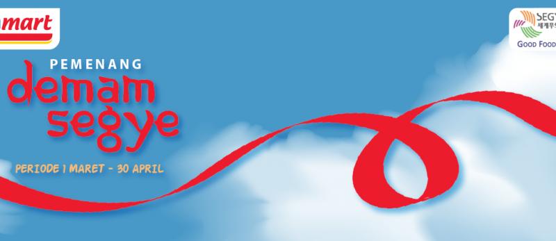 Pengumuman Pemenang Demam Segye 1 Maret - 30 April 2020
