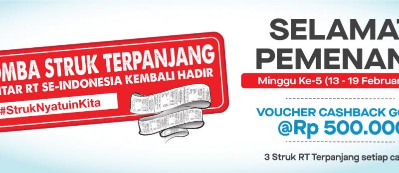 Pemenang #StrukNyatuinKita Week 5 (13 - 19 Februari 2020)