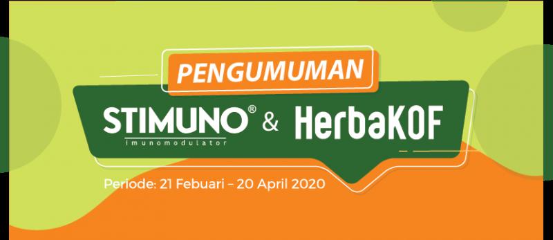 Pengumuman Pemenang Stimuno x Herbakof periode 21 Feb - 20 April 2020