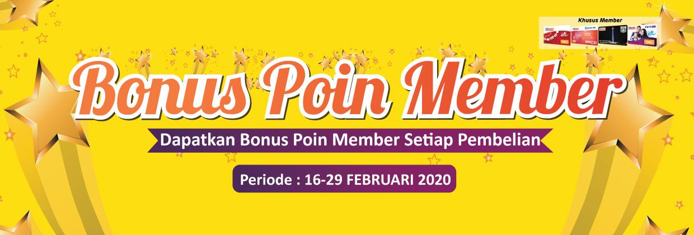 Bonus Poin Member 16 - 39 Februari 2020