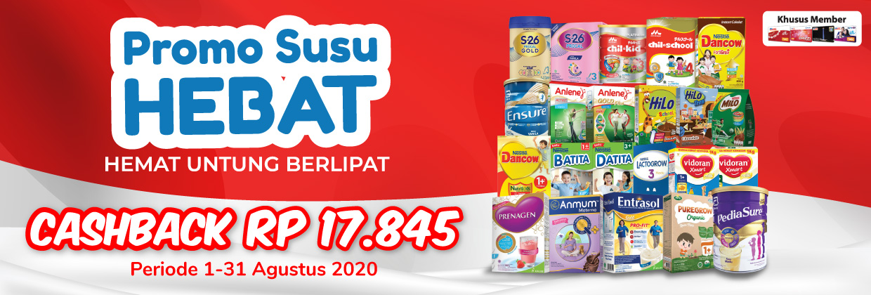 Promo Susu hebat 1 - 15 Agustus 2020