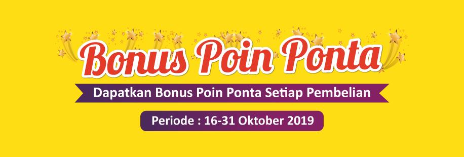 Bonus Poin Ponta 16-31 Oktober 2019