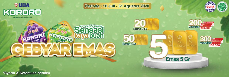 Program Gebyar Emas Kororo 16 Juli - 31 Agustus 2020