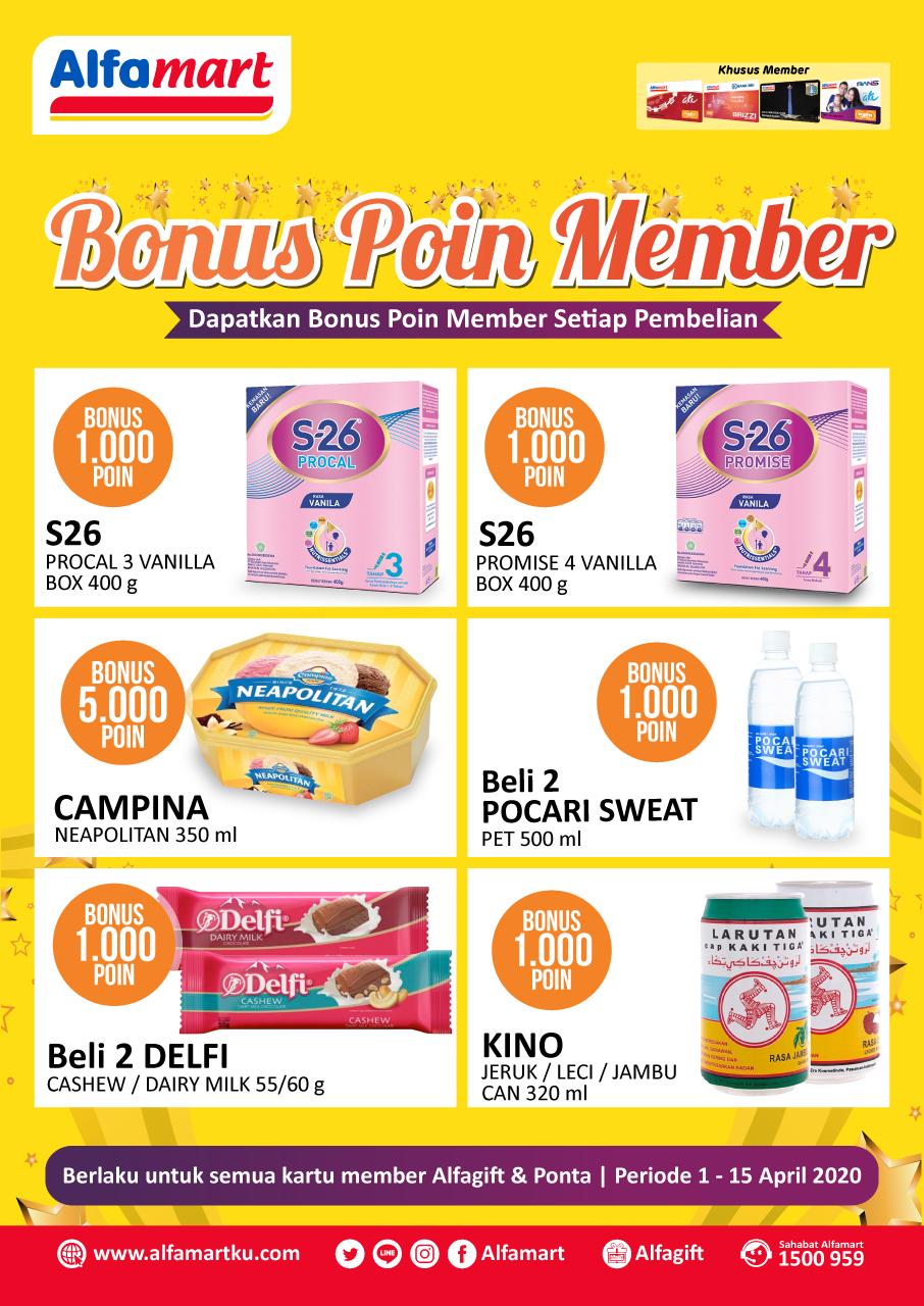 Bonus Poin Member 1 - 15 April 2020