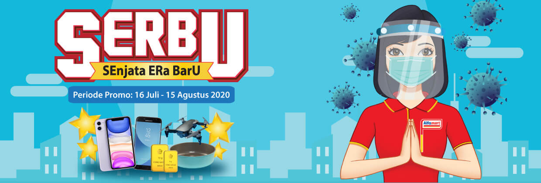 Promo SERBU Semangat Era Baru Alfamart Periode 16 Juli - 2 Agustus 2020