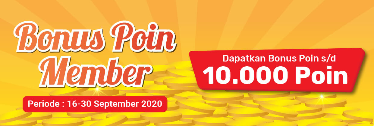 Promo Bonus Poin 16 - 30 September 2020