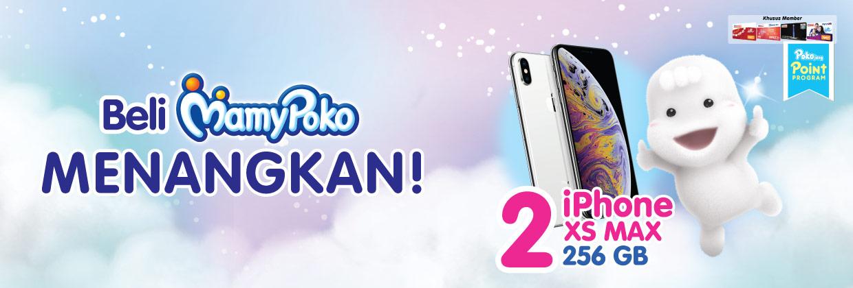 Beli Mamy Poko Menangkan IPHONE XS MAX 256GB + PULUHAN PRODUK MAMYPOKO GRATIS!!