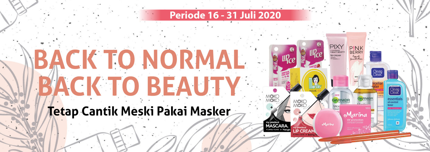 Promo Back To Beauty di Alfamart periode 16 - 31 Juli 2020