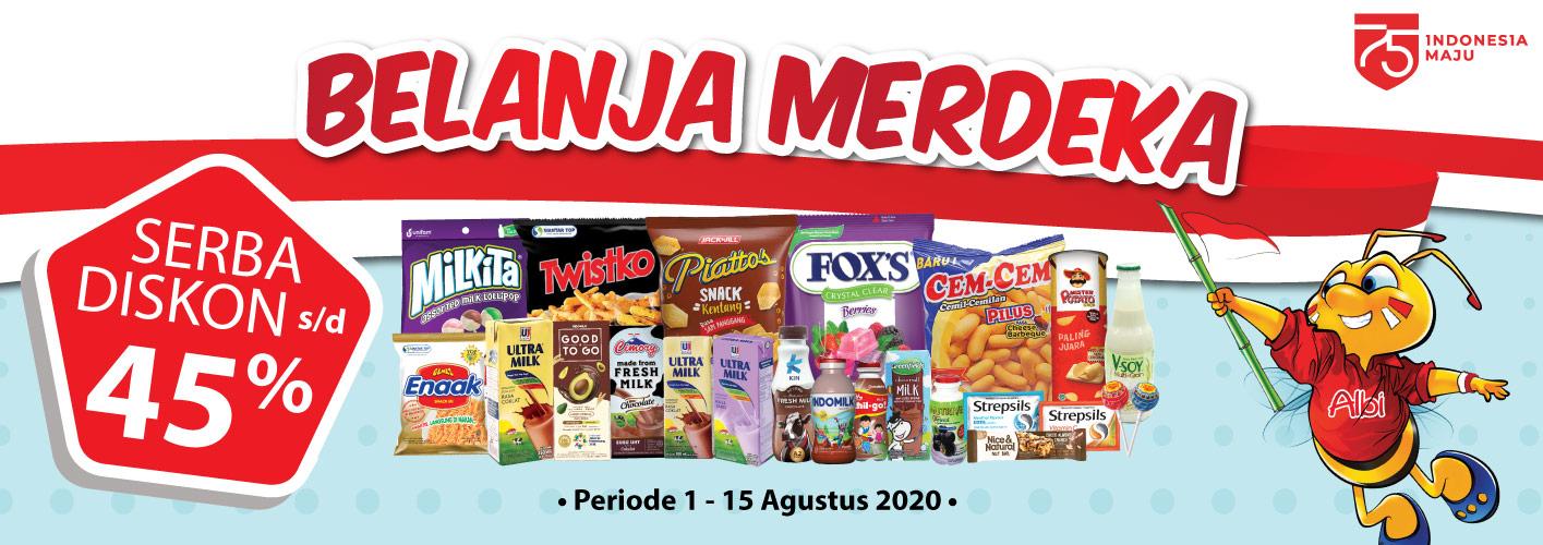 Promo Belanja Merdeka Alfamart 1 - 15 Agustus 2020