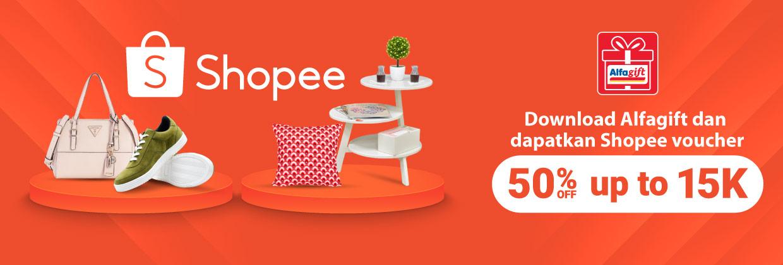 Dapatkan Shopee Voucher dengan Download Aplikasi Alfagift