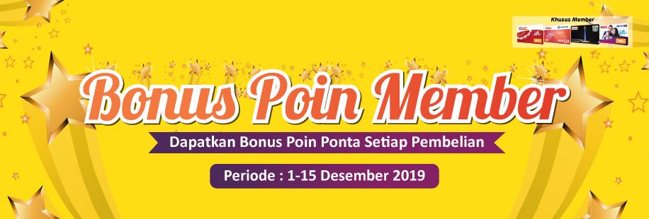 BONUS Poin Ponta Member 1 - 15 Desember 2019