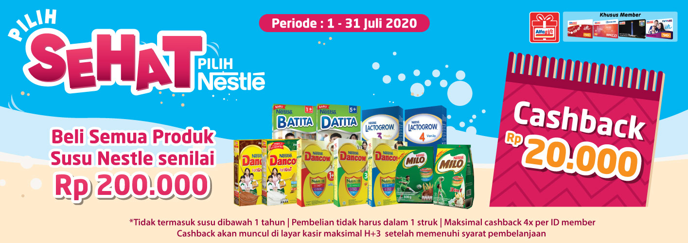 Program Pilih Sehat Nestle Sehat 1 - 31 Juli 2020