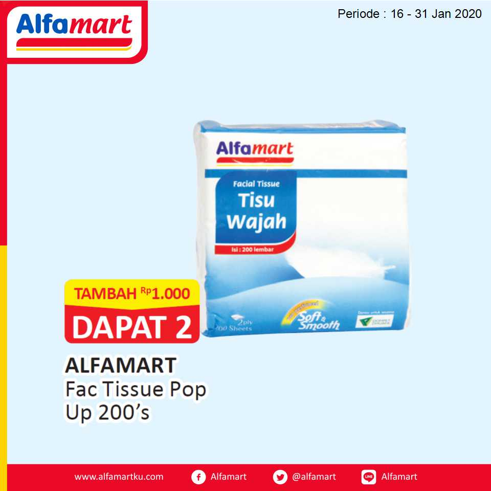 ALFAMART Fac Tissue Pop Up 200's