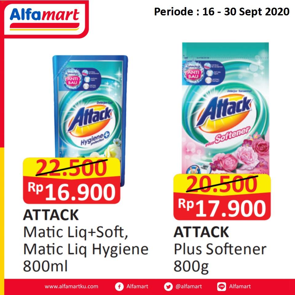 Attack Liquid dan Attach Plus Softener
