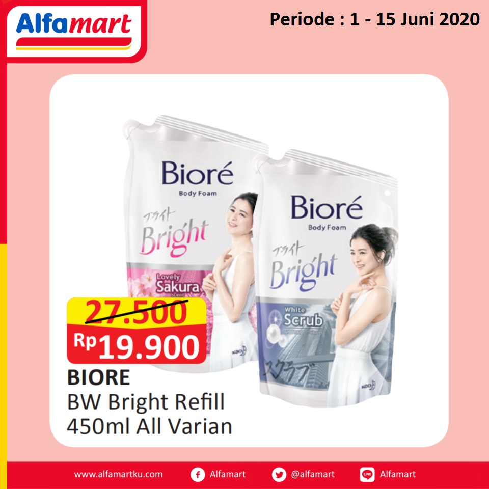 BIORE BW Bright Refill 450ml All Var