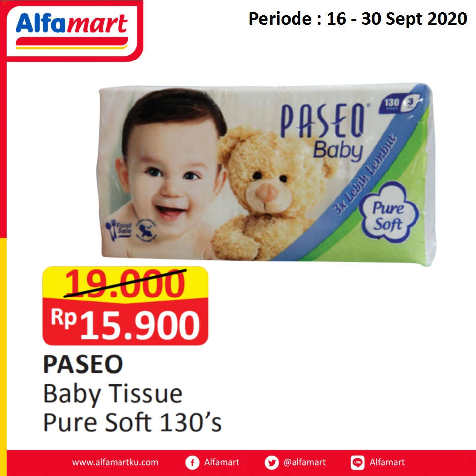 PASEO Baby Tissue Pure Soft 130's