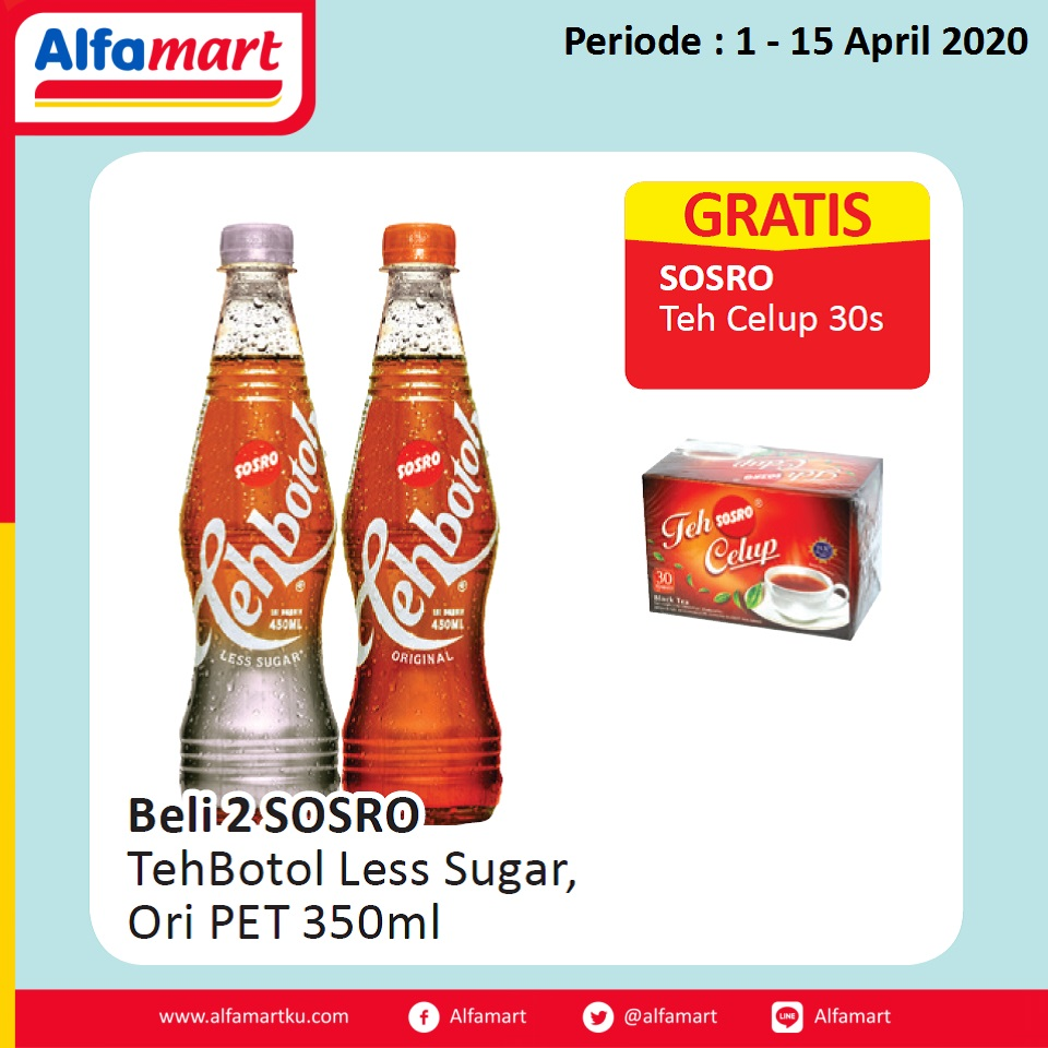Teh Botol Less Sugar, Ori PET 350ml